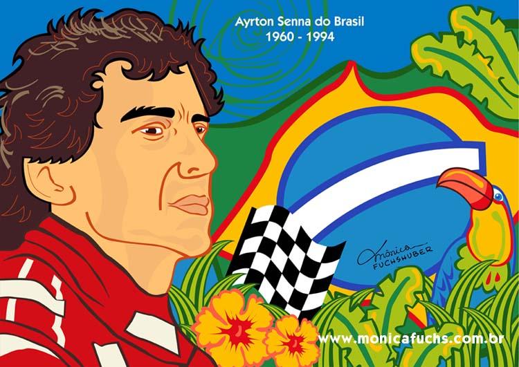 Mônica Fuchshuber homenageia Ayrton Senna